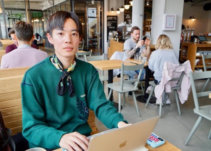 2018年9月から交換留学生としてベルリンで勉強中の本窪田さん。