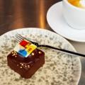キャラメル風味のチョコレートケーキ