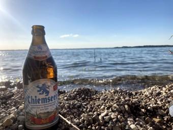 キーム湖近郊のローゼンへイム(Rosenheim)で醸造されるビール。その名もChiemseer。 @tomogermany