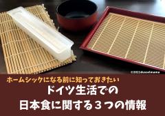 ホームシックになる前に知っておきたいドイツ生活での日本食に関する3つの情報