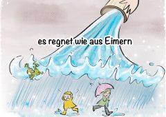 【今週のドイツ語】Es regnet wie aus Eimern
